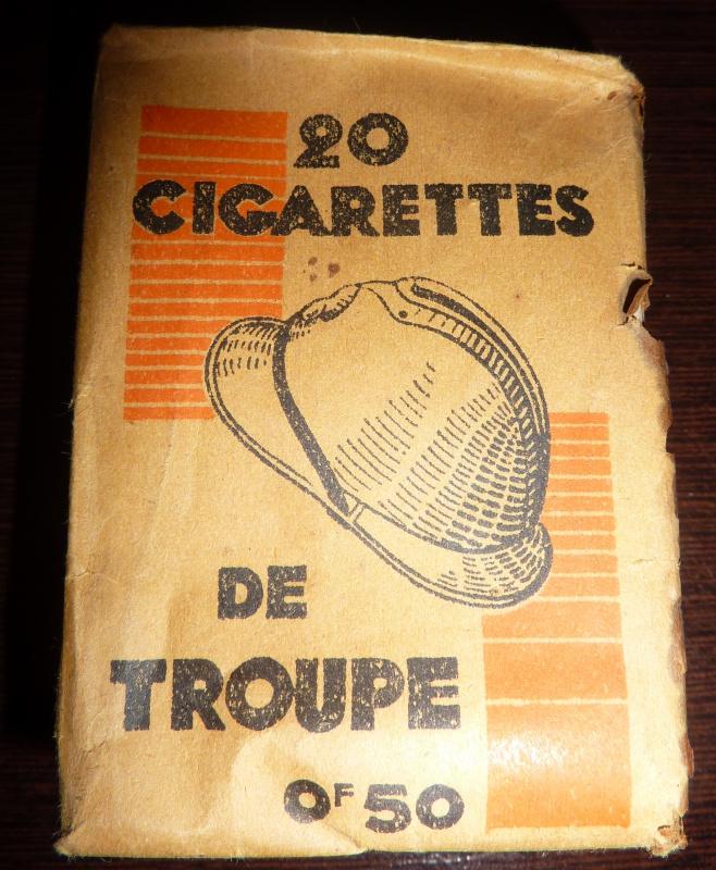 Paquet de cigarettes troupe variante inconnue 678513P1010914