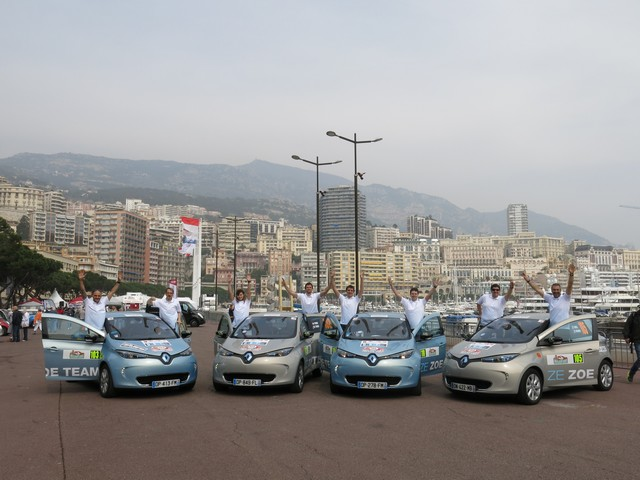 Renault ZOE truste les quatre premières places du 6ème Rallye Monte-Carlo ZENN 6804886721816