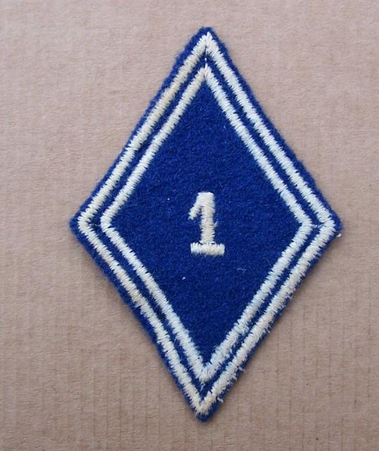 Deux soutaches à l'insigne régimentaire du 1er RCP 682691TISSU4