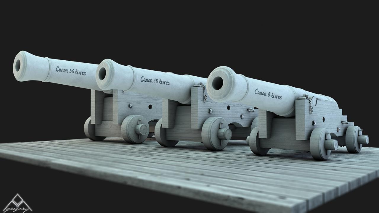 Canons pour le vaisseau de 74 canons - Page 4 688797Ensemblescanons