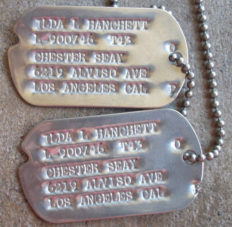 Les Dog Tag U.S. WWII 692499OfficierWACs