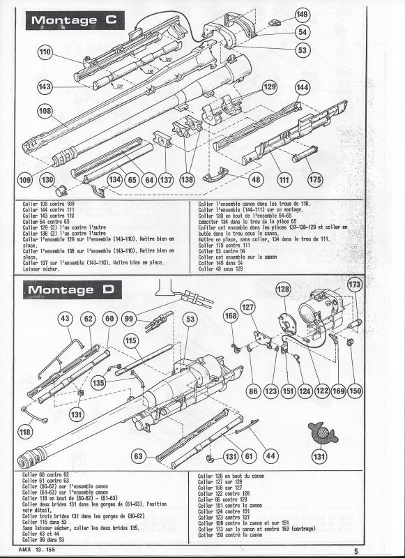 AMX 13 canon de 155 1/35ème Réf L 782 695351AMX13155782006Heller135