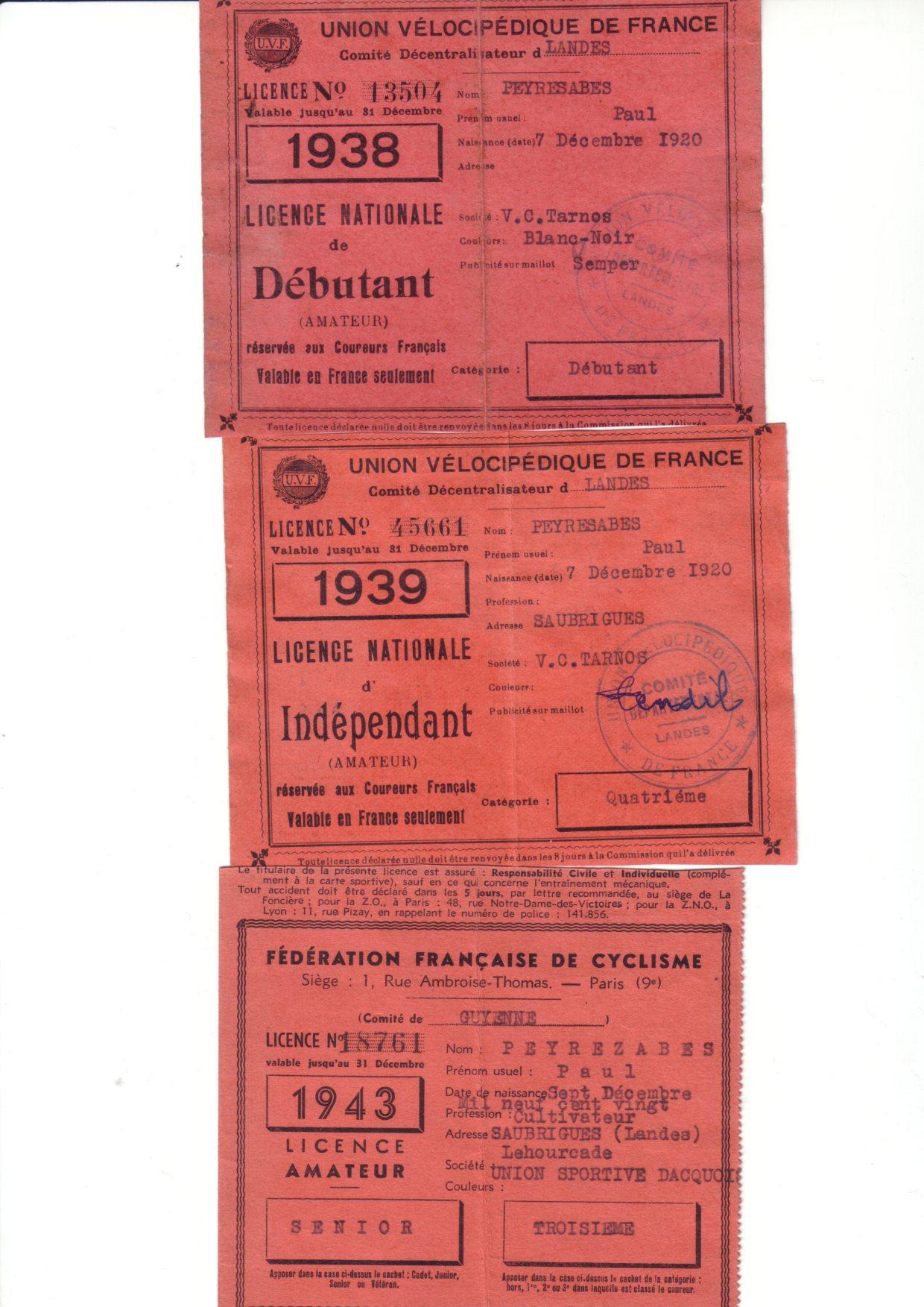 Vélo de course TENDIL 1939 696931alicencesPaul
