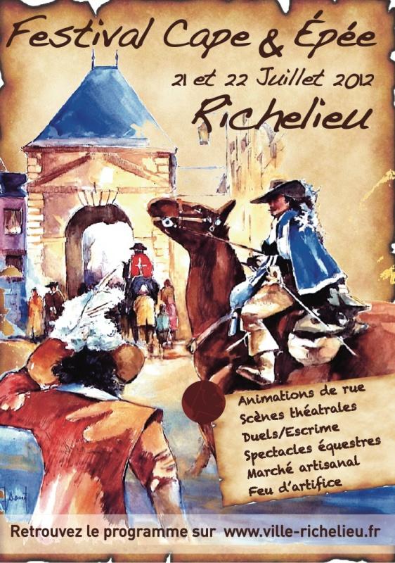 Festival de Cape & d'Epée à Richelieu 698203AfficheCapeEpee