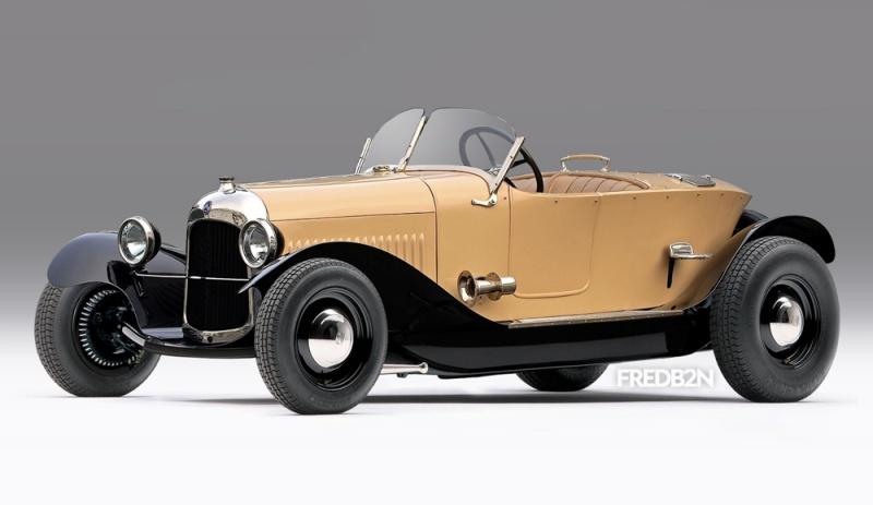 Citroën 5HP Torpédo 1923 - 1926 au 1/10ème de France-jouet       sur ponts-trans HSP Kulak 1/18ème    699006HotrodsB21303230309254224711002017