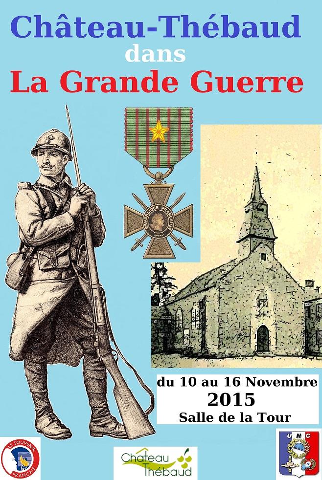 Exposition Château-Thébaud dans la Grande-Guerre 701248affichedfinitiveCopie