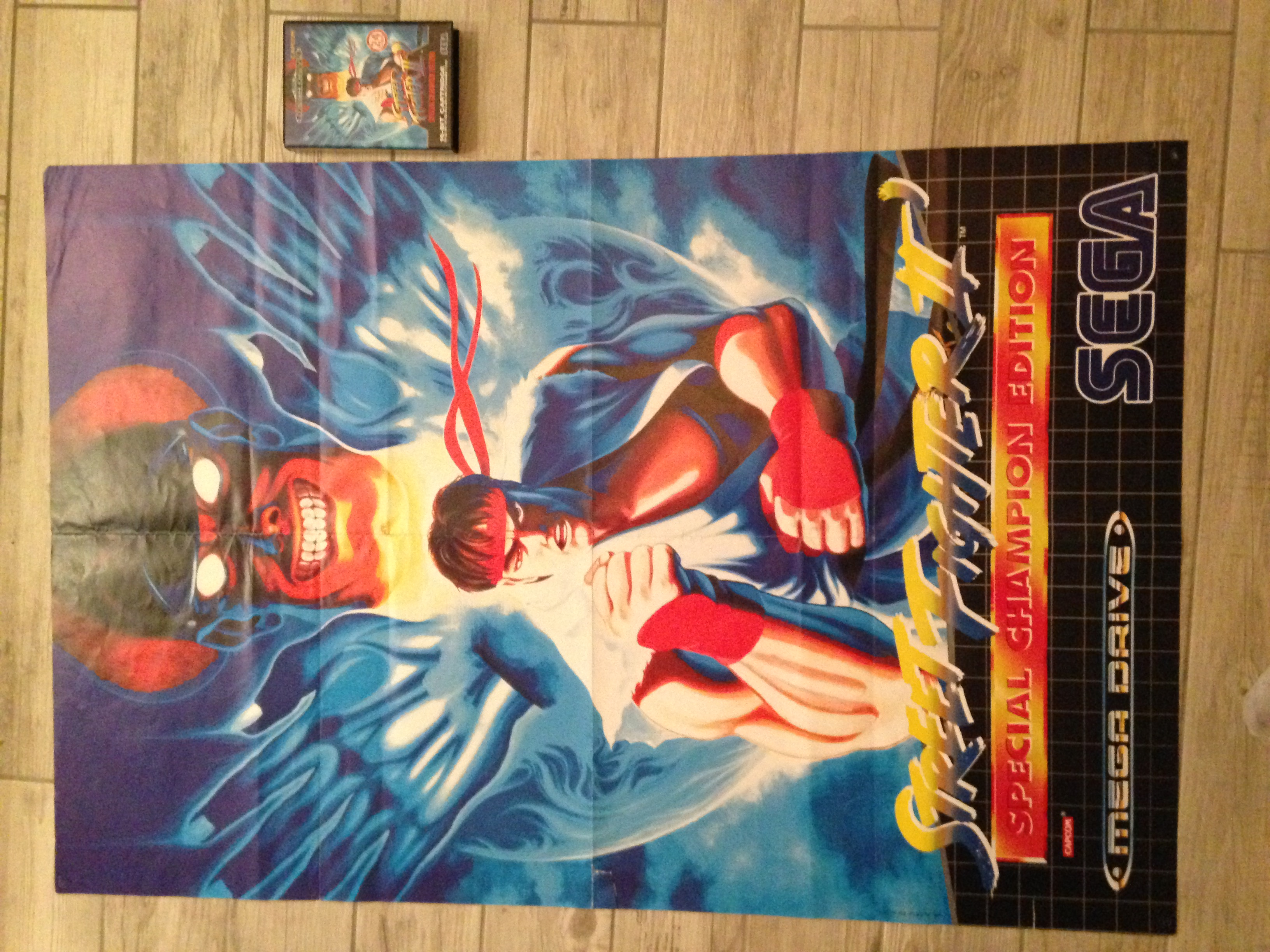 [ECH] Poster Street Fighter 2 pack Megadrive  701342IMG1385