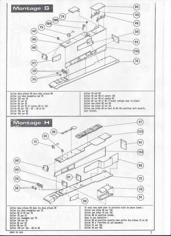 AMX 13 canon de 155 1/35ème Réf L 782 702563AMX13155782008Heller135