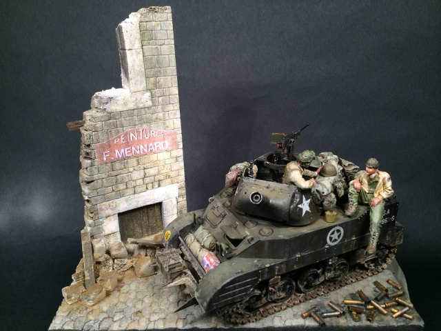 """""""Le laxatif"""" - M8 Howitzer unité """"Hell on Wheels"""" - 2nd Armored division, Normandie - Tamiya 1/35 709394IMG3482"""
