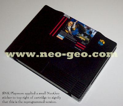 Petit logo Neo-Geo sur cartouche Samurai Spirits Zero Special 713944reprogrammed