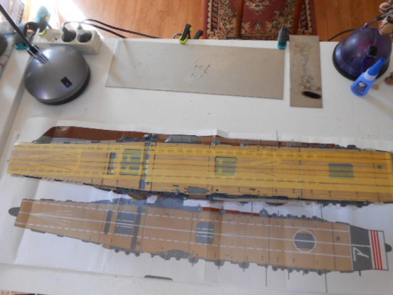 PA AKAGI 1/350 de chez Hasegawa PE + pont en bois par Lionel45 - Page 5 715547Peintureaka004