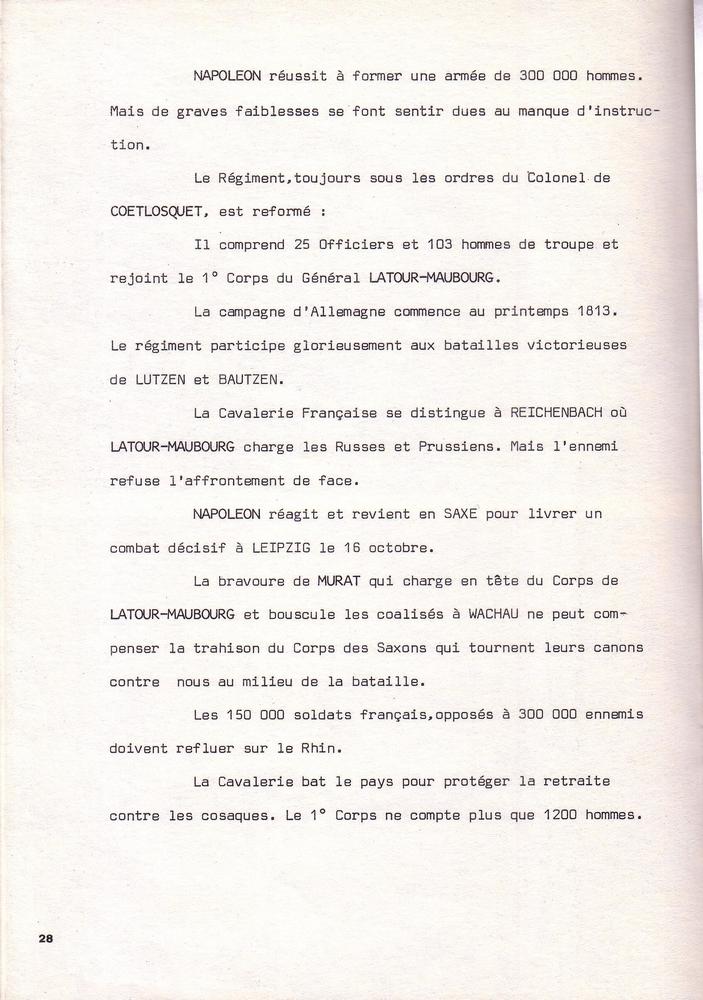 L'épopée Napoléonienne du 8 ème Régiment de Hussards  - Page 2 717537Historique8RHN28