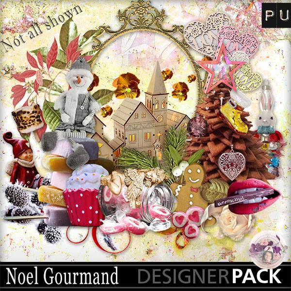 Kit Noël gourmand de ScrapTalou design 719370271