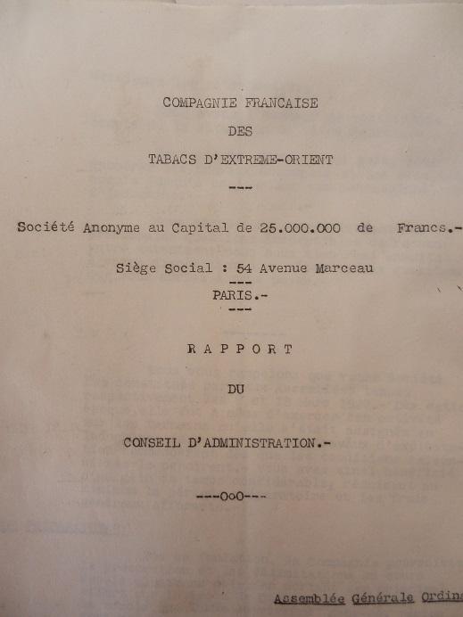 Mines d'Indochine, plantation de tabacs et d'hévéas ..... 721493P8120027