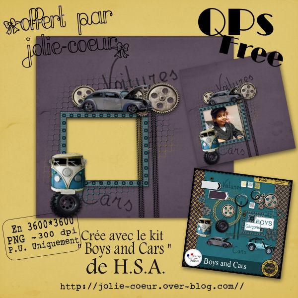 "QP...free avec le kit "" Boy And Cars ""  724365QPJolieCoeurScrapsKitBoysAndCarsHSA"