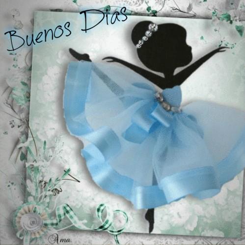 Bailarina con Tutú Celeste  726556dias