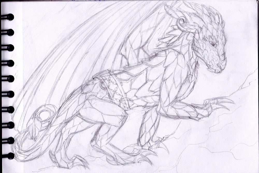 Dragons, chimères et créatures arc-en-ciel - Page 3 728626Timorsketchvuect