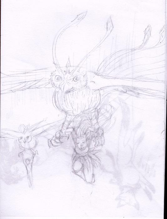 Dragons, chimères et créatures arc-en-ciel - Page 3 730945sketchvol
