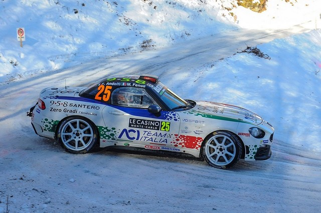 Premier test concluant en course pour l'Abarth 124 rally au 85ème Rallye de Monte-Carlo 731519170123AbarthAndolfi