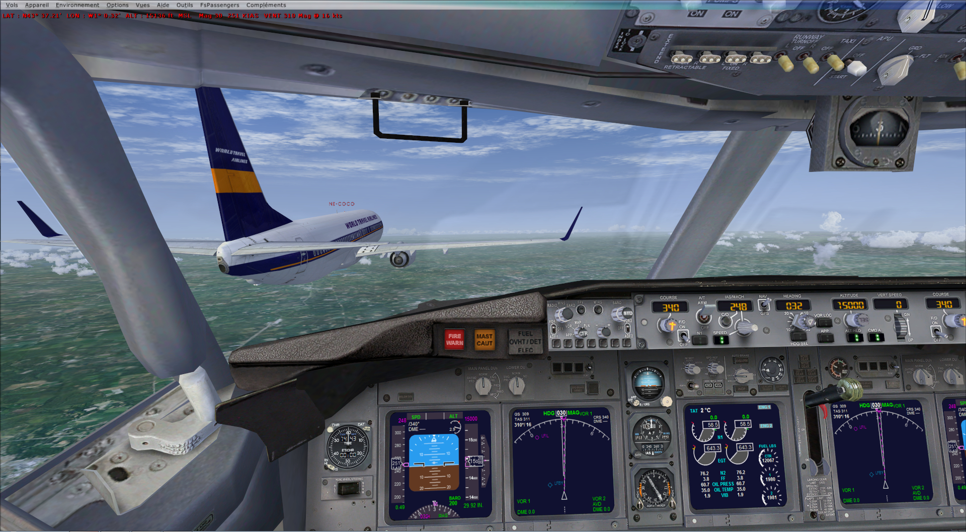 rapport du vol en formation en  737 de LEMD -----LFBG 73226120141119212850770