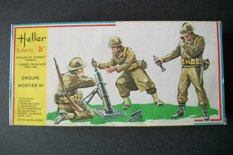 Groupe de combat FRANCE 1ère Armée Française 1944-1945 Groupe de Mortier 81 1/35ème Réf.115 740647Heller115135001GroupedeCombatFranceGroupeMortier81