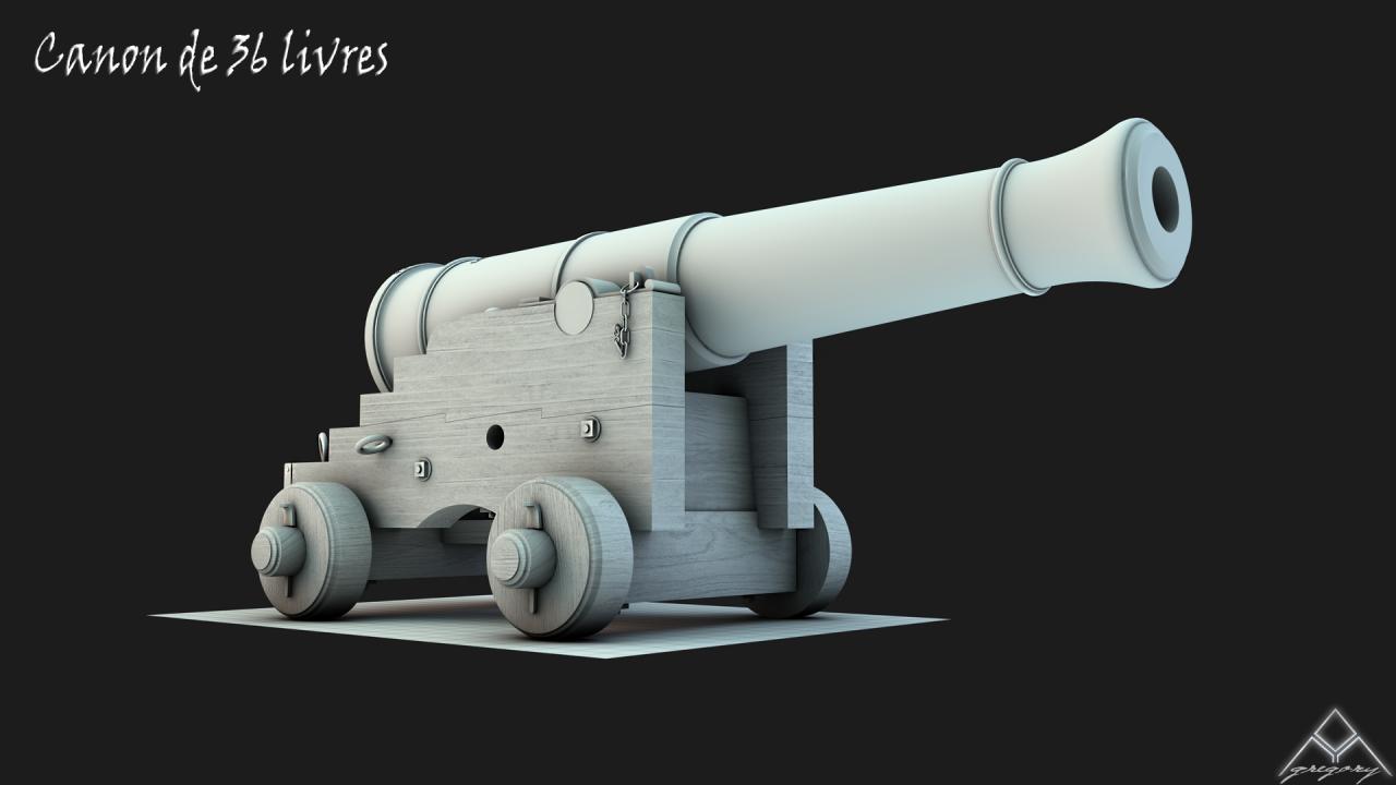 Canons pour le vaisseau de 74 canons 752571Canon363