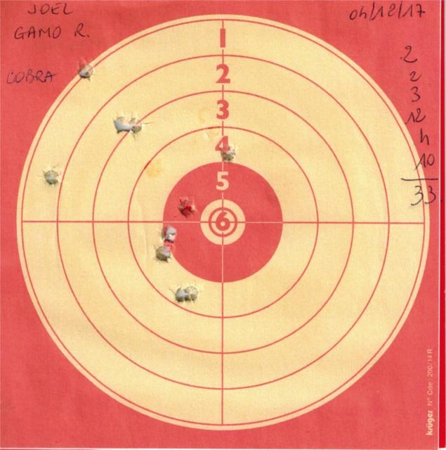 Tests plombs avec carabine Gamo Replay 754329GAMOREPLAYUMAREXCOBRA