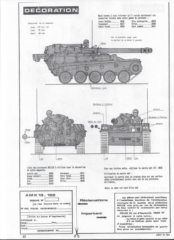 AMX 13 canon de 155 1/35ème Réf L 782 755954AMX13155782013Heller135