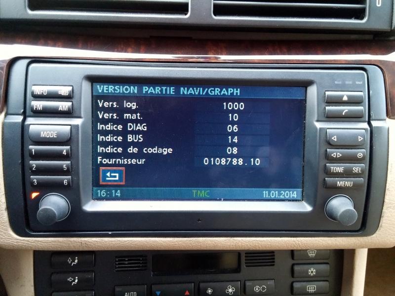 Les menus du GPS mk4 761102VersionsNavigationGraphique