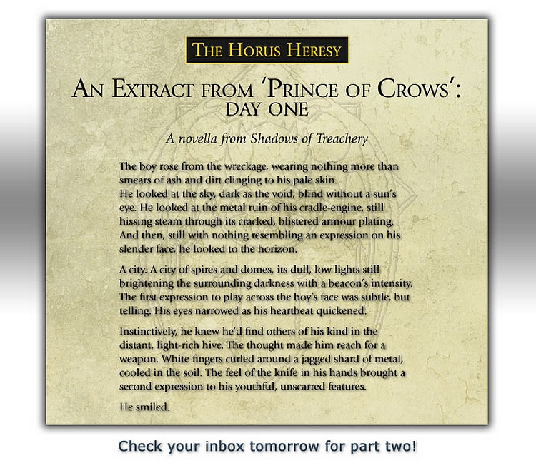 [Horus Heresy] Shadows of Treachery - Page 3 765676princeofcrows