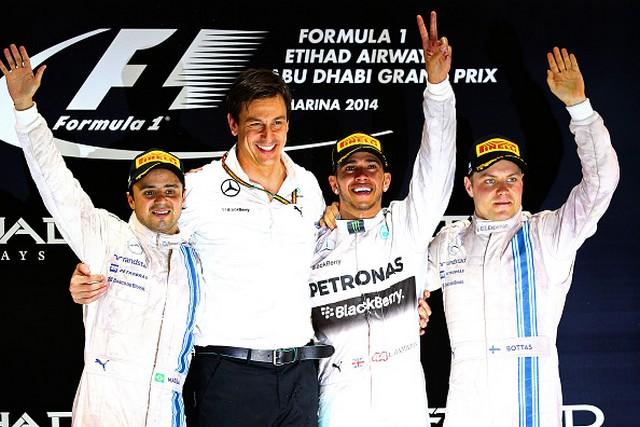 F1GP d'Abu Dhabi 2014 : Lewis Hamilton victoire et champion du monde 7699672014Massawolffhamiltonbottat