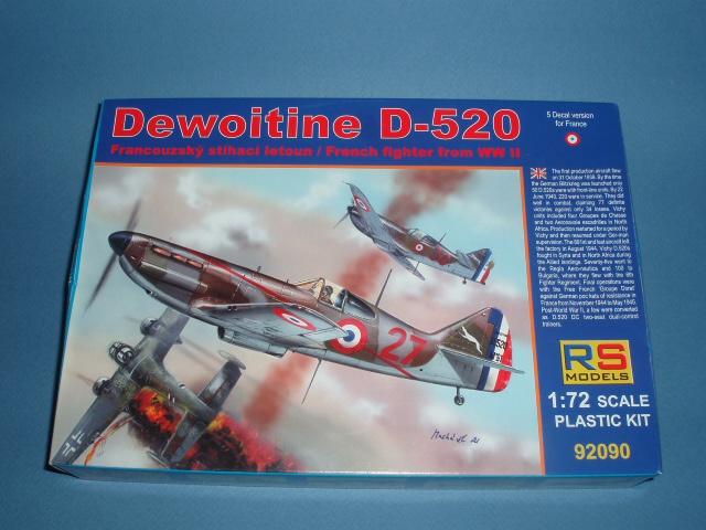 Dewoitine D520 Maquette RSModels au 1/72 771014airfix153