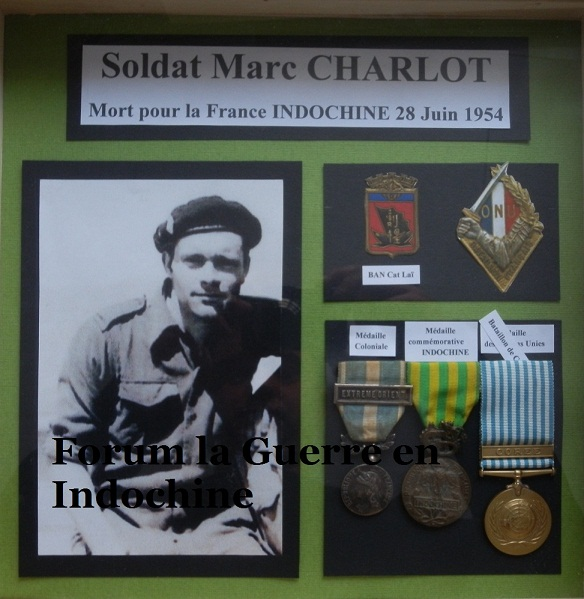 Soldat Marc CHARLOT MPLF le 28 Juin 1954 Régiment de Corée/GM100 771811P6020009