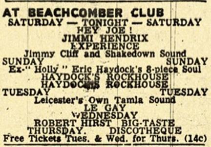 Nottingham (Beachcomber Club) : 14 janvier 1967 776024929n