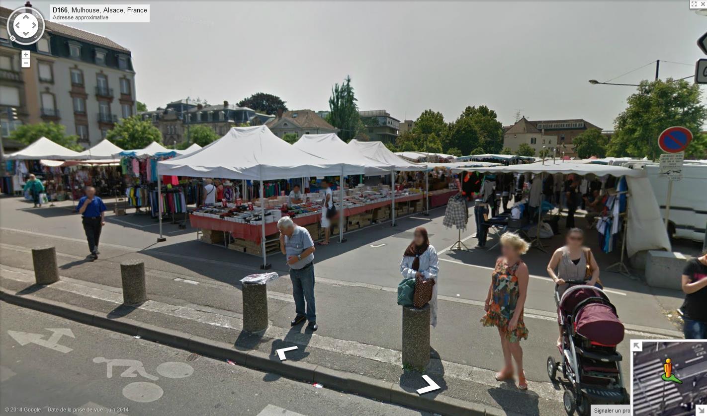STREET VIEW : les scènes de marchés et brocantes - Page 2 781172Mulhousemarch3
