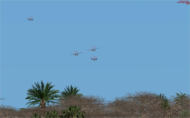 Vol en formation en Afrique (DC3) 7812362013222223218899
