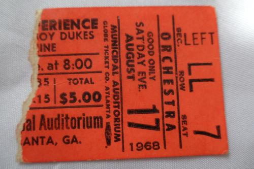Atlanta (Atlanta Municipal Auditorium) : 17 août 1968 [Premier Concert] 782594Atlantabillet1968o