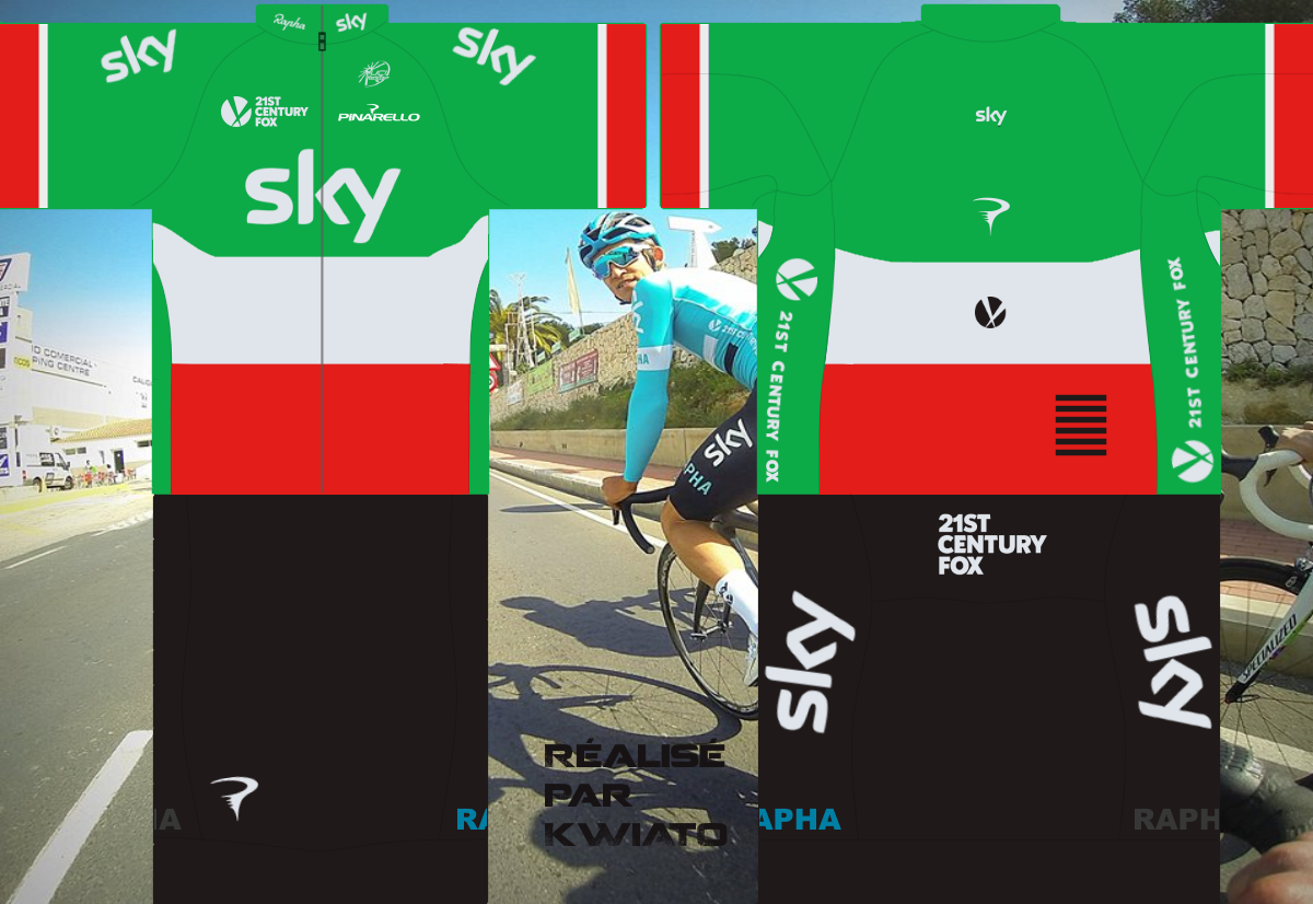 SKY Pro Cycling 784189skymaillotita