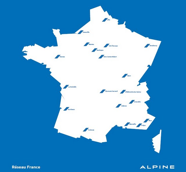 Alpine annonce son réseau de distribution en France 787505reseaufrancealpine