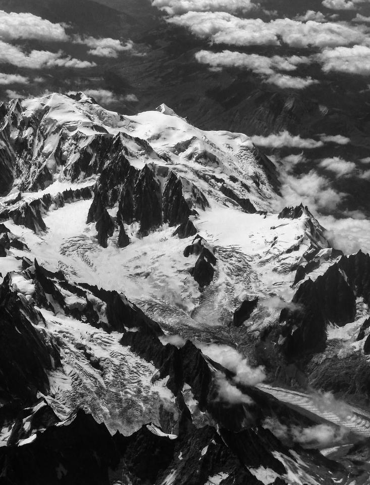 le Mont Blanc en Blanc et Noir ... 804751P132004512
