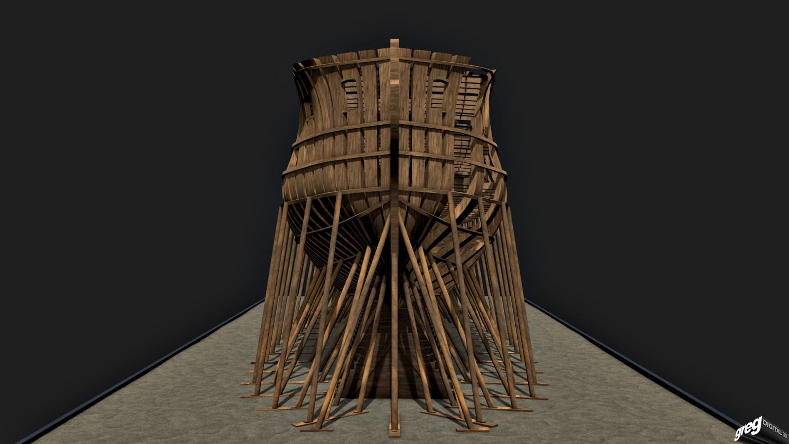 Vaisseau 74 canons Lucide (Création 3D) de Greg_3D - Page 3 809136Squeletteportes