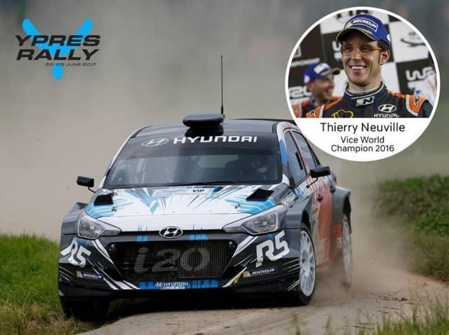 Thierry Neuville au départ du Rallye d'Ypres 2017 811005Capture