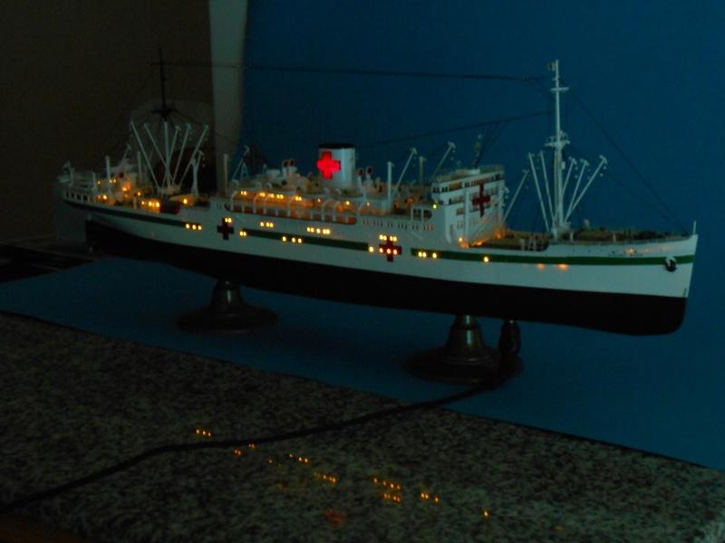 Hikawa Maru Hopital 1/350 pont/PE/babioles Hasegawa 811845DSCN6048