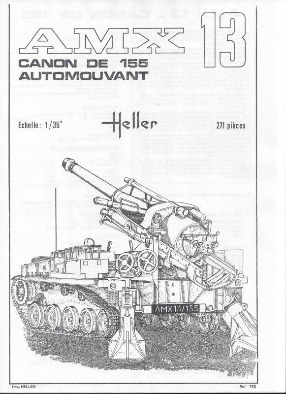 AMX 13 canon de 155 1/35ème Réf L 782 823382AMX13155782002Heller135