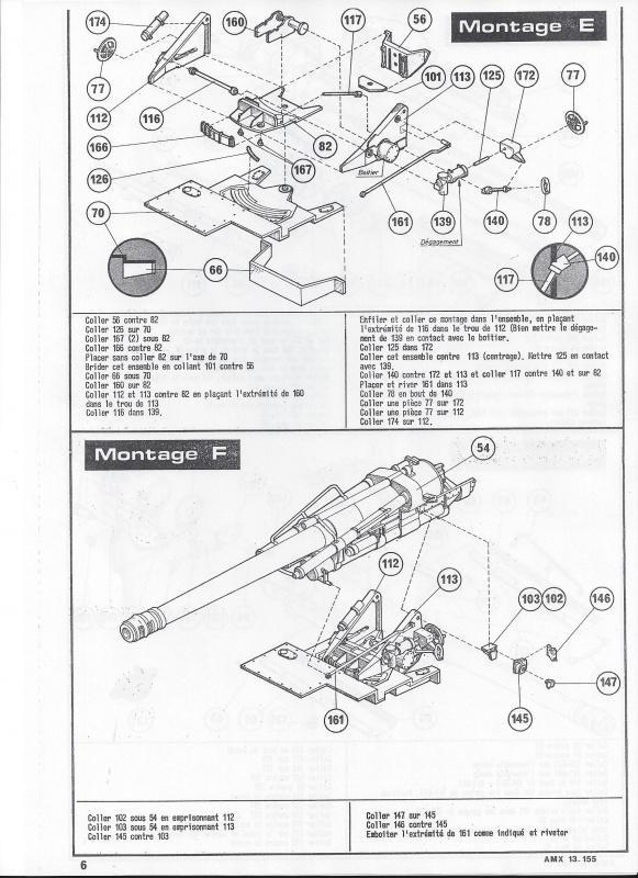 AMX 13 canon de 155 1/35ème Réf L 782 823407AMX13155782007Heller135