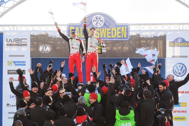Jari-Matti Latvala Gagne En Suède Avec La Yaris WRC Et Prend La Tête Du Championnat Du Monde 832365RO201700215321