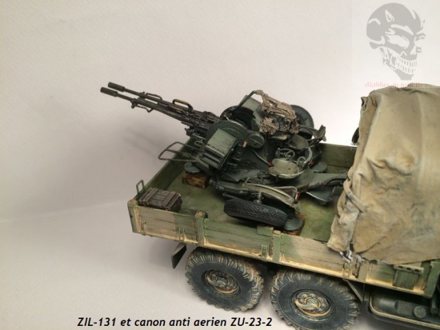 ZIL-131 avec canon anti-aérien ZU-23 en Afghanistan,maquette revell 1/35 835541IMG4539