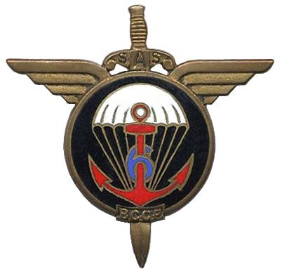 Parachutiste André LEPOITEVIN 6è BPC MPLF Dien Bien Phu 16 Mars 1954 835777Insignedu6BCCP