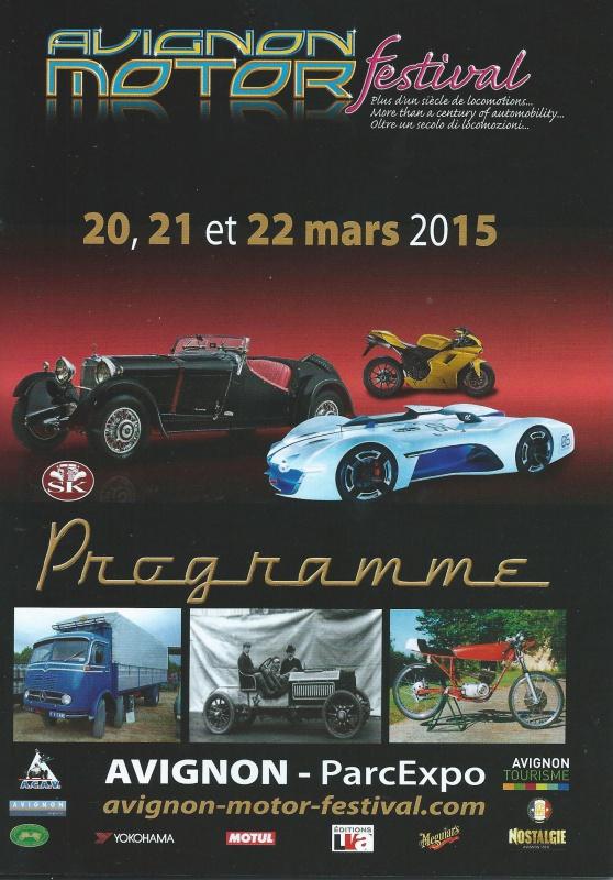 AVIGNON Motor Festival 2015 836640AVIGNON2015Programme001