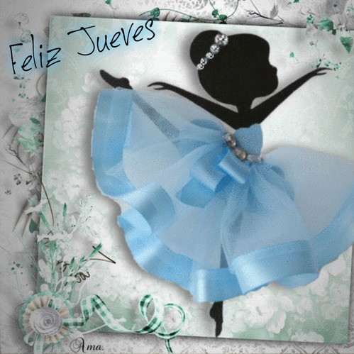 Bailarina con Tutú Celeste  837975jueves